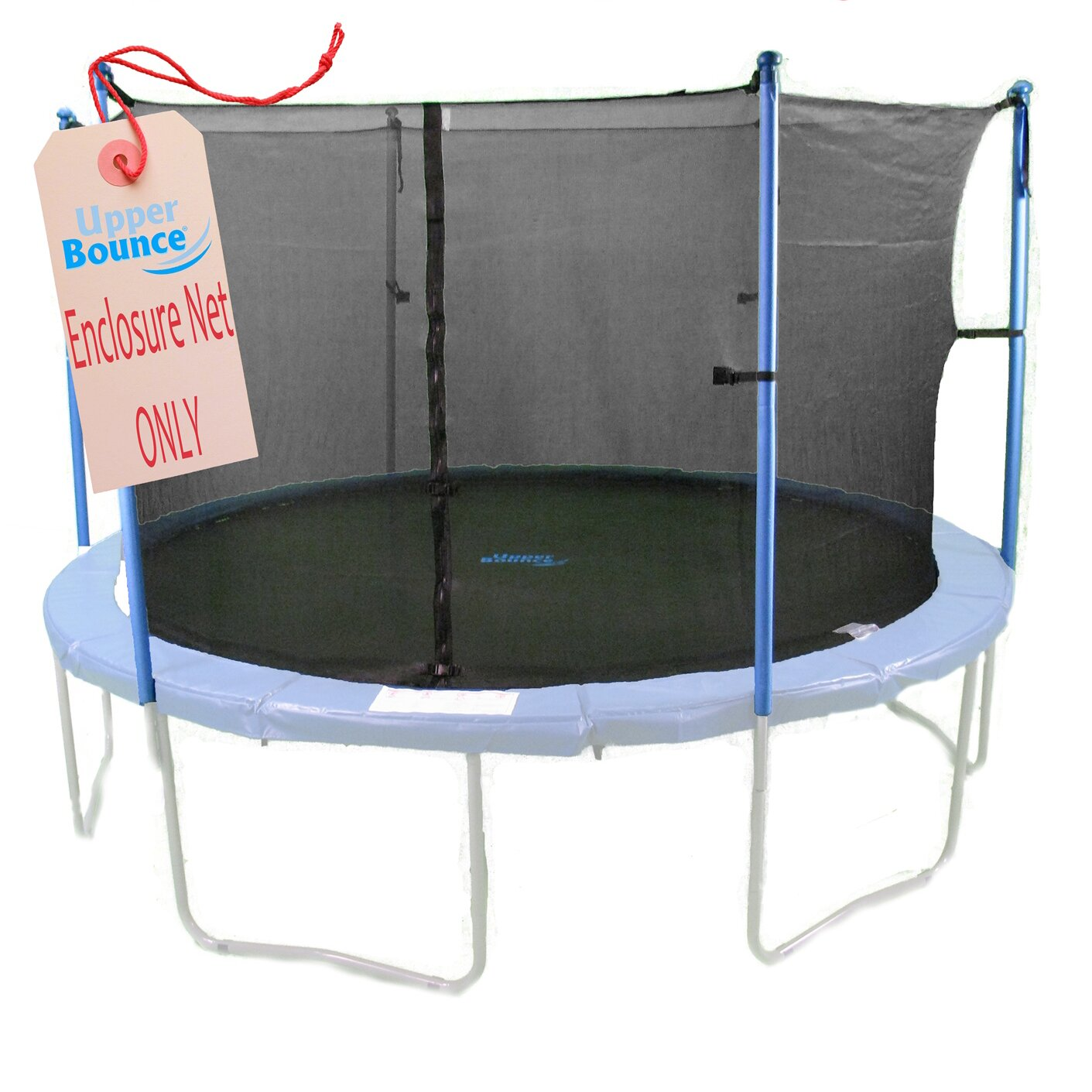Upper Bounce 12' Round Trampoline Net Using 4 Poles Or 2