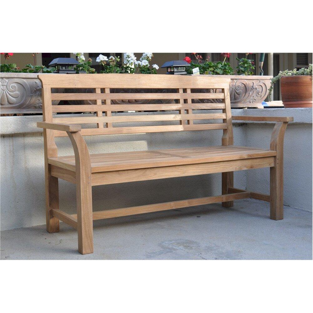 Anderson Teak Sakura 2 Seater Teak Garden Bench Wayfair