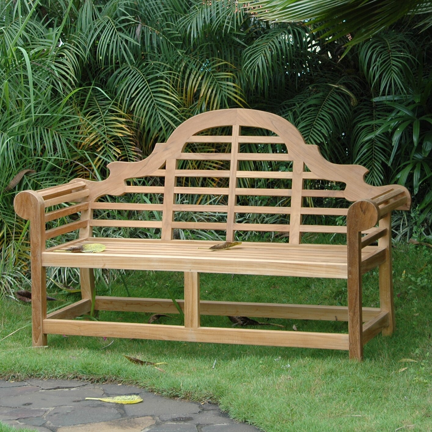 Anderson teak marlborough teak garden bench wayfair for Outdoor furniture benches