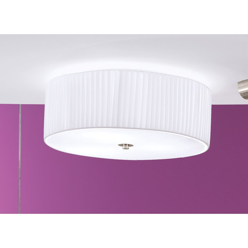Eglo Fortuna 3 Light Flush Ceiling Light Amp Reviews