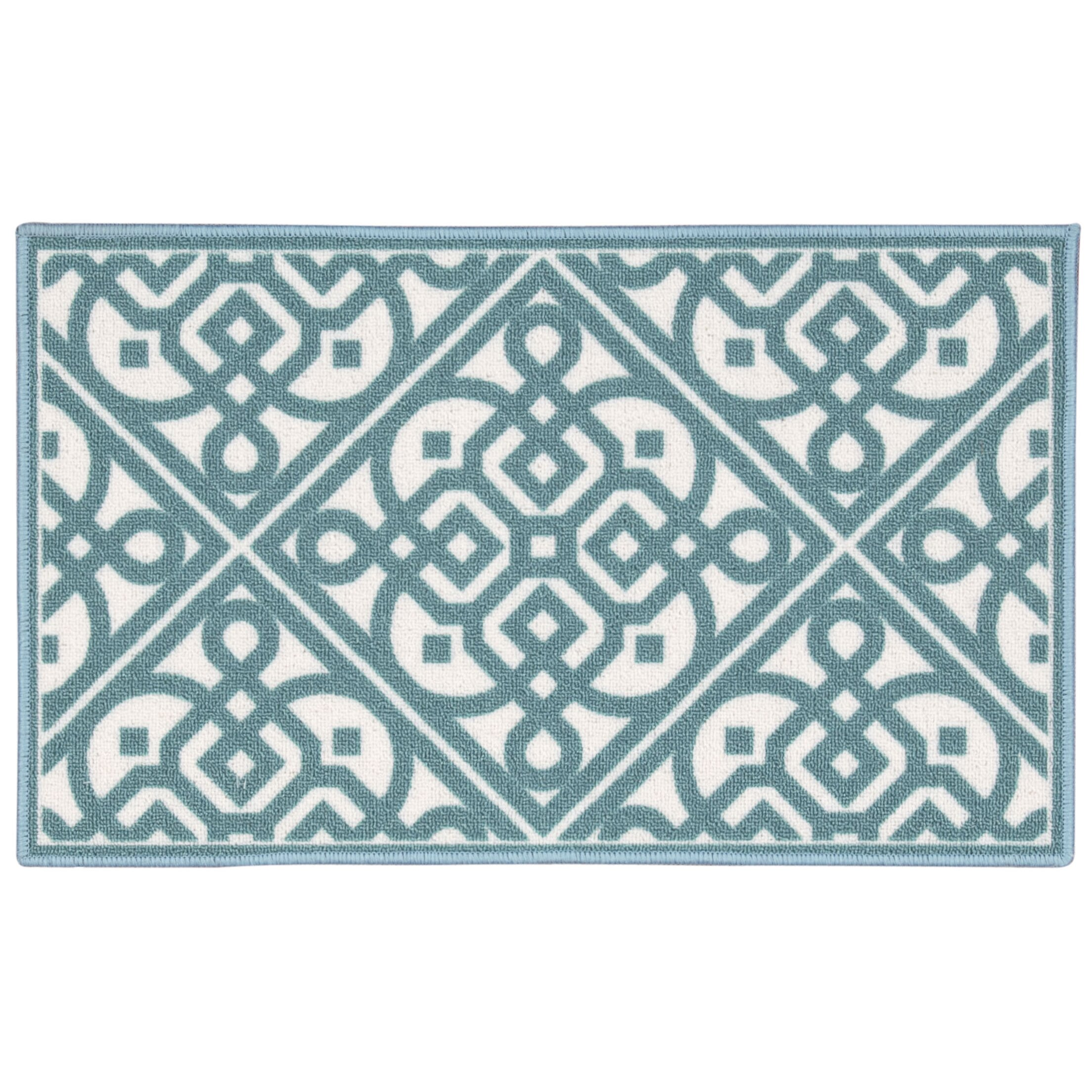 Waverly Fancy Free Amp Easy Quot Lace It Up Quot Teal Accent Rug