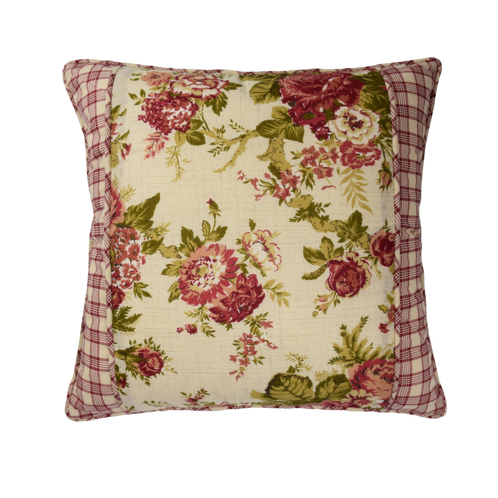 Waverly Norfolk Cotton Throw Pillow & Reviews Wayfair