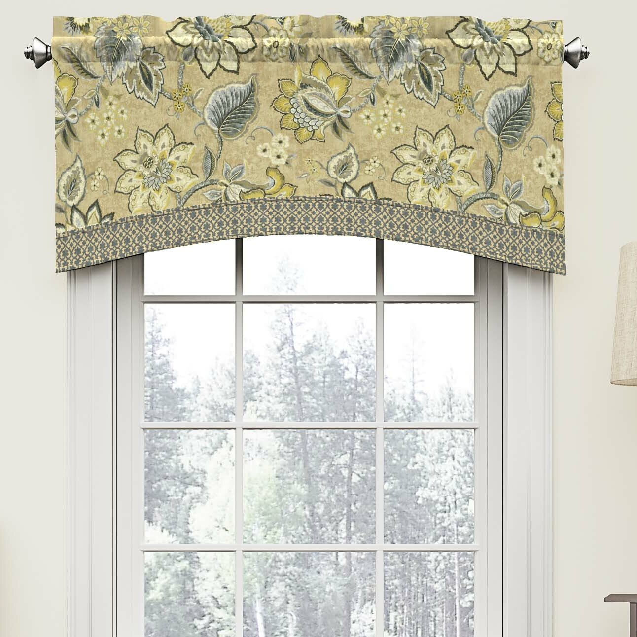 "Waverly Brighton Blossom 52"" Arched Curtain Valance"