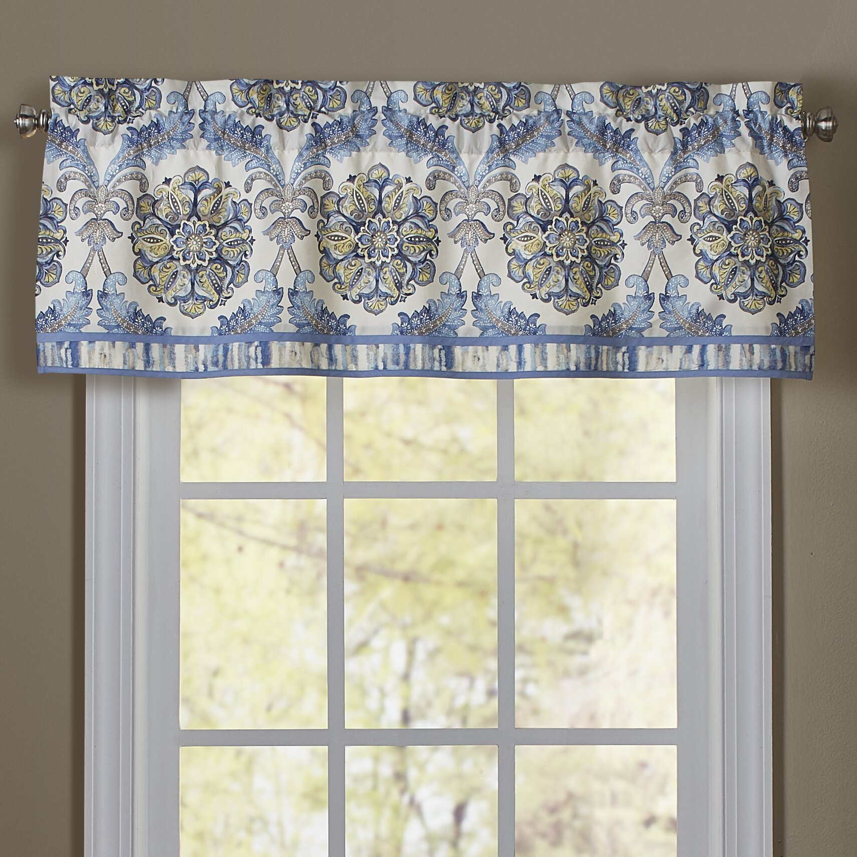 "Waverly Over The Moon 16"" Curtain Valance & Reviews"