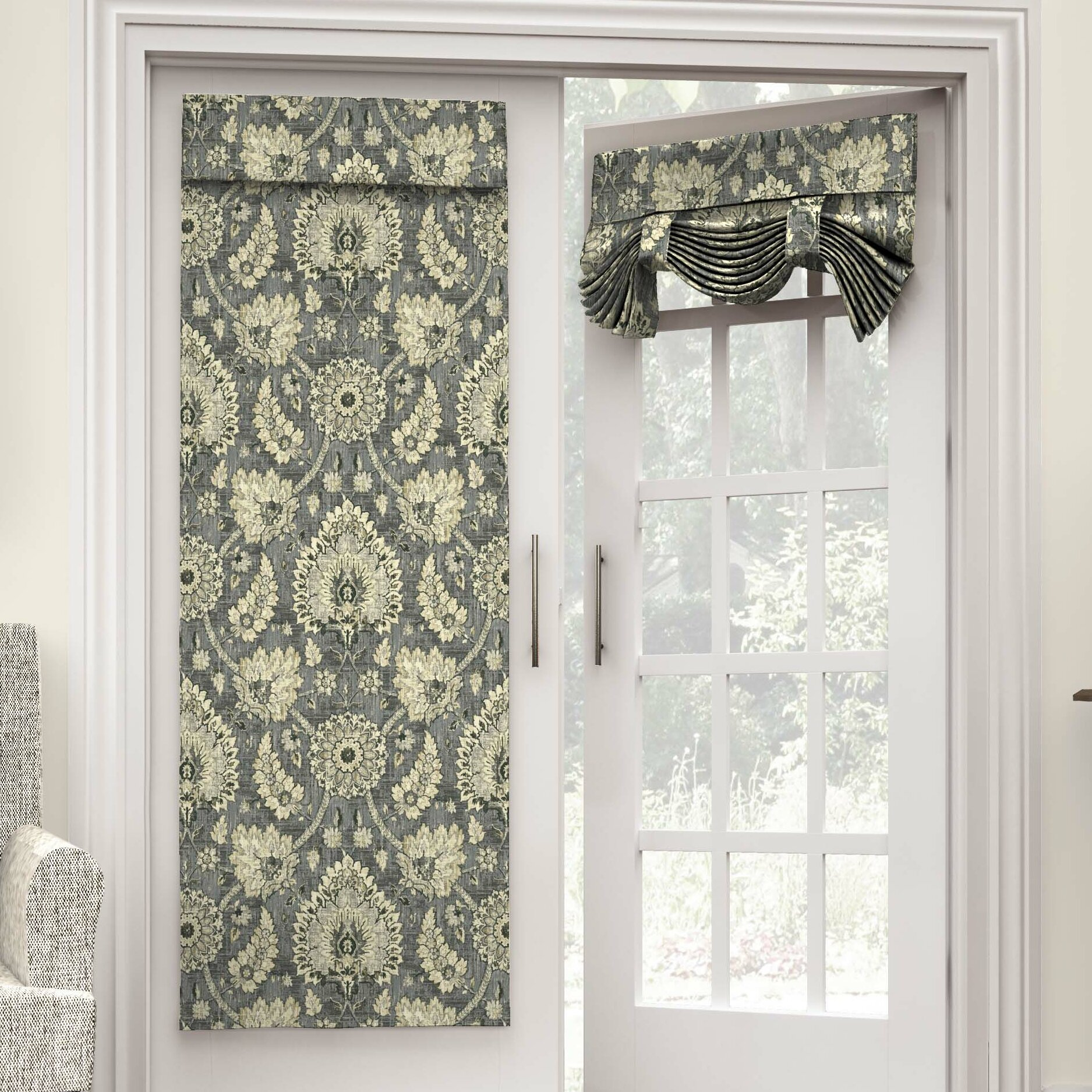 waverly clifton hall french door single curtain panel