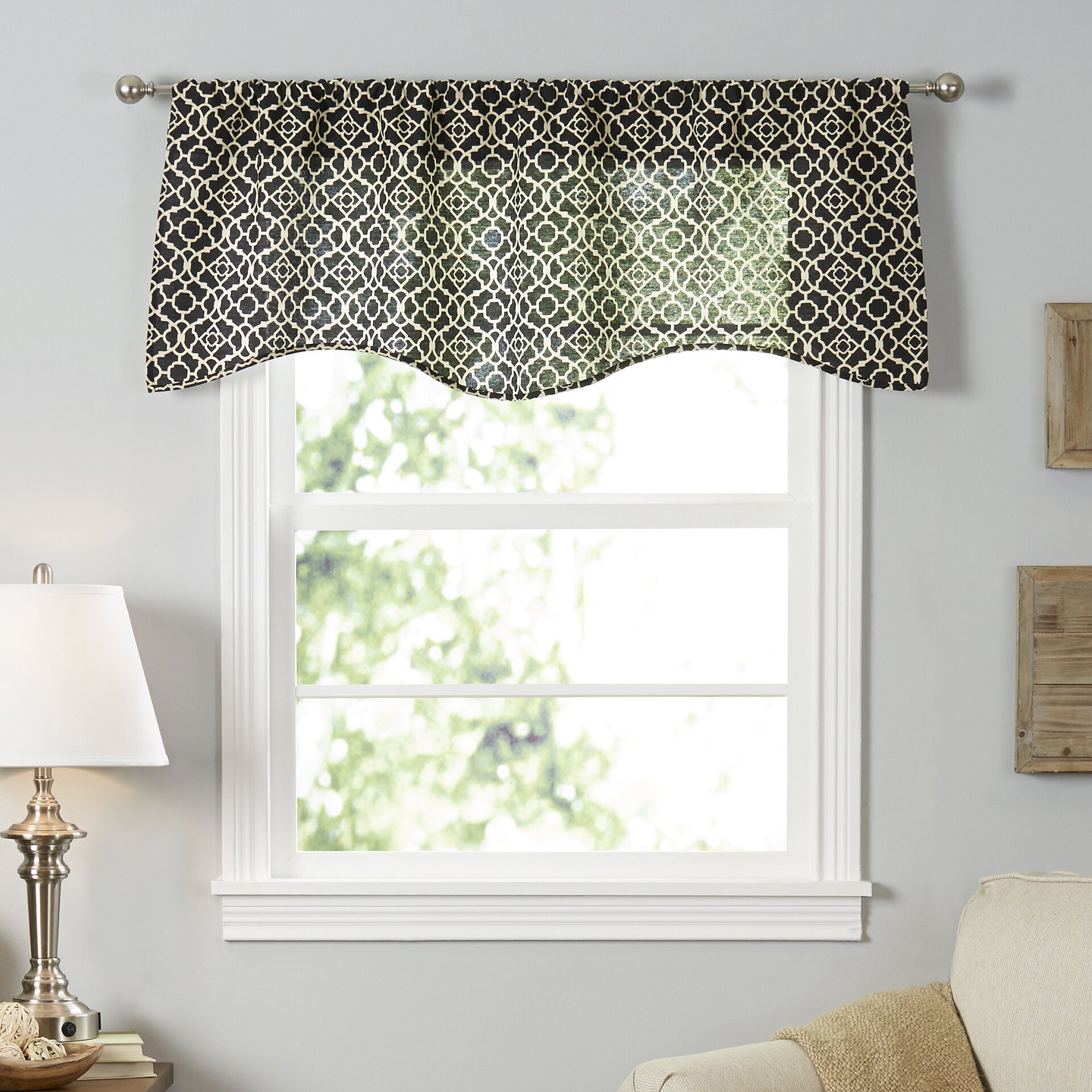 "Waverly Lovely Lattice 50"" Curtain Valance & Reviews"