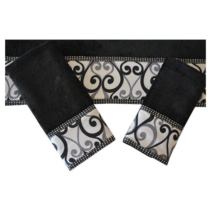 sherry kline abingdon decorative 3 piece towel set