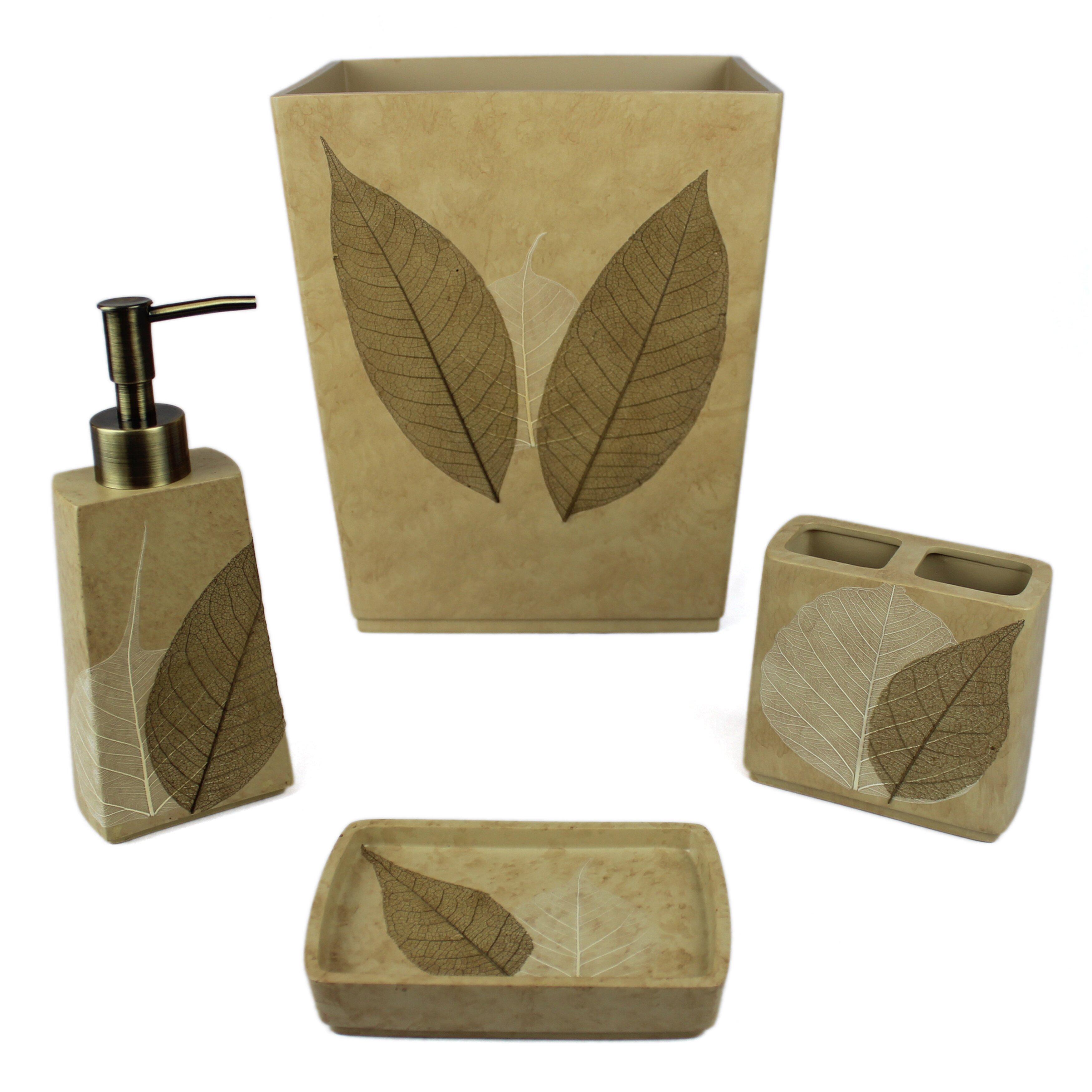 Sherry kline rindge 4 piece bathroom accessory set for Bathroom 4 piece set