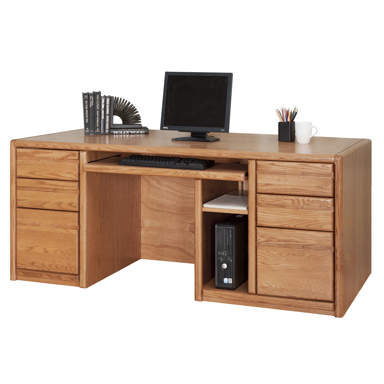 Martin Home Furnishings Executive Desk & Reviews