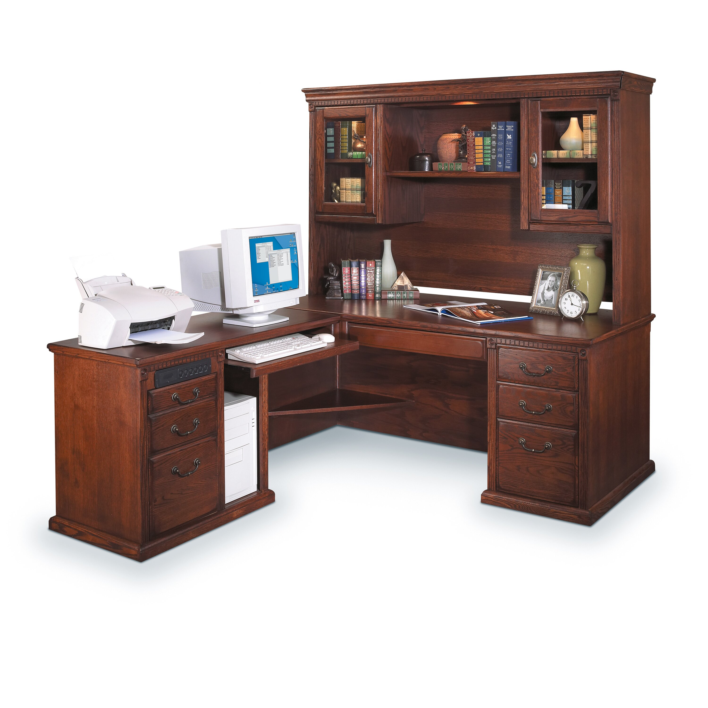 Kathy Ireland Home By Martin Furniture Huntington Oxford Left L Shaped Executive Desk Reviews
