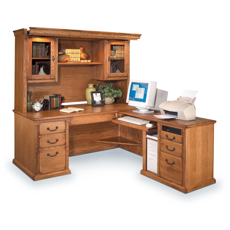 Martin home furnishings huntington oxford l shape executive desk with hutch reviews wayfair - Martin home office furniture ...