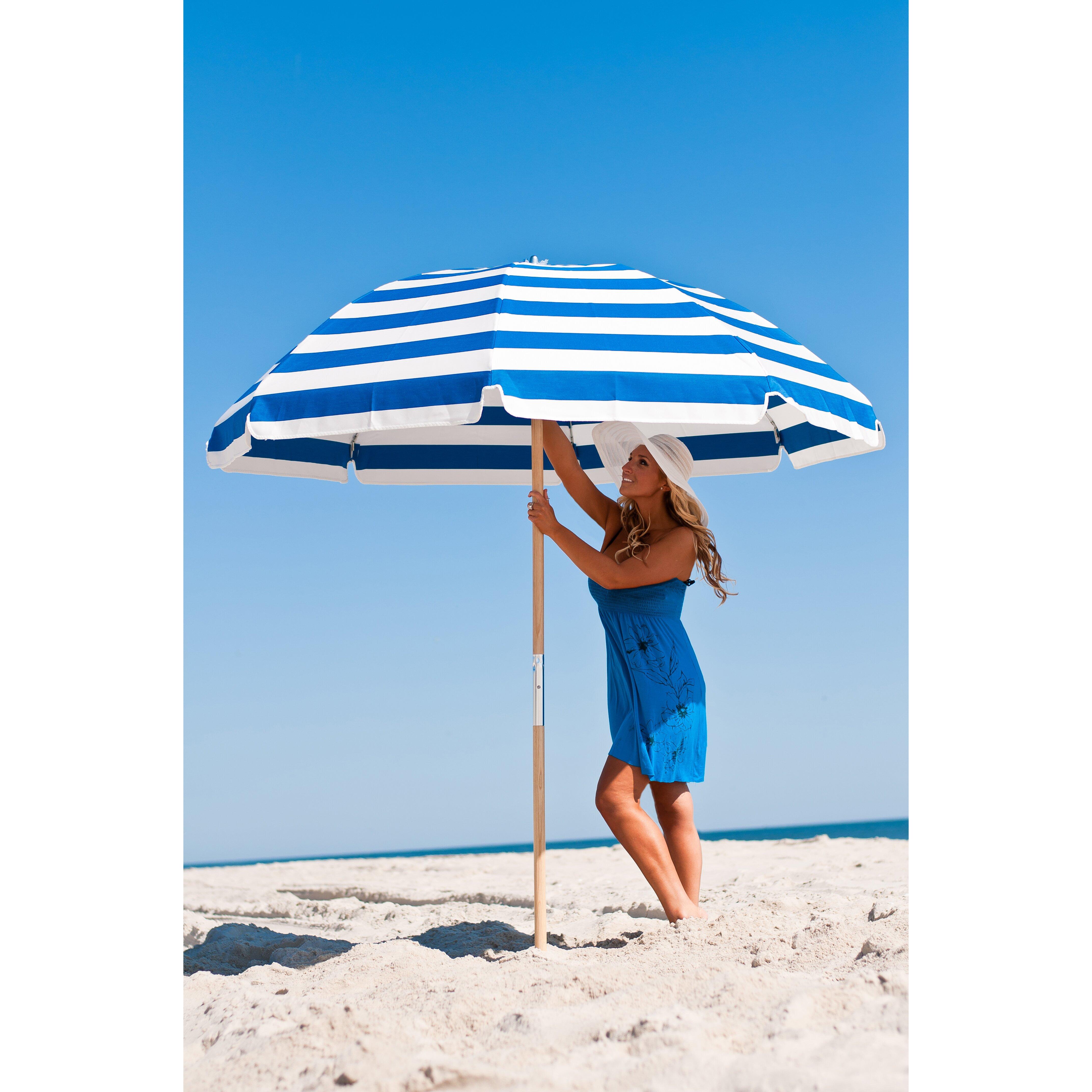 Beach Umbrella: Frankford Umbrellas 7.5' Beach Umbrella & Reviews