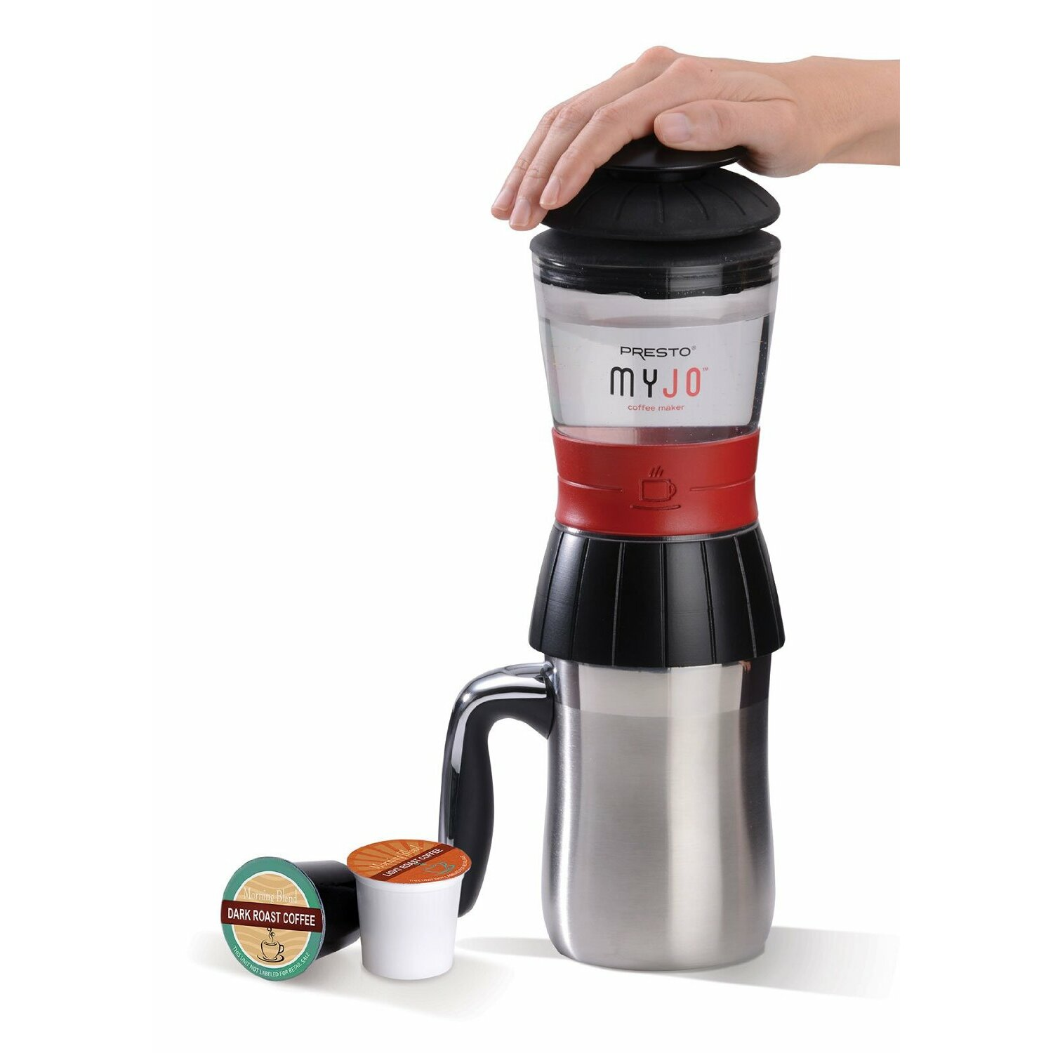 Presto myjo single cup coffee maker wayfair for Apartment size coffee maker