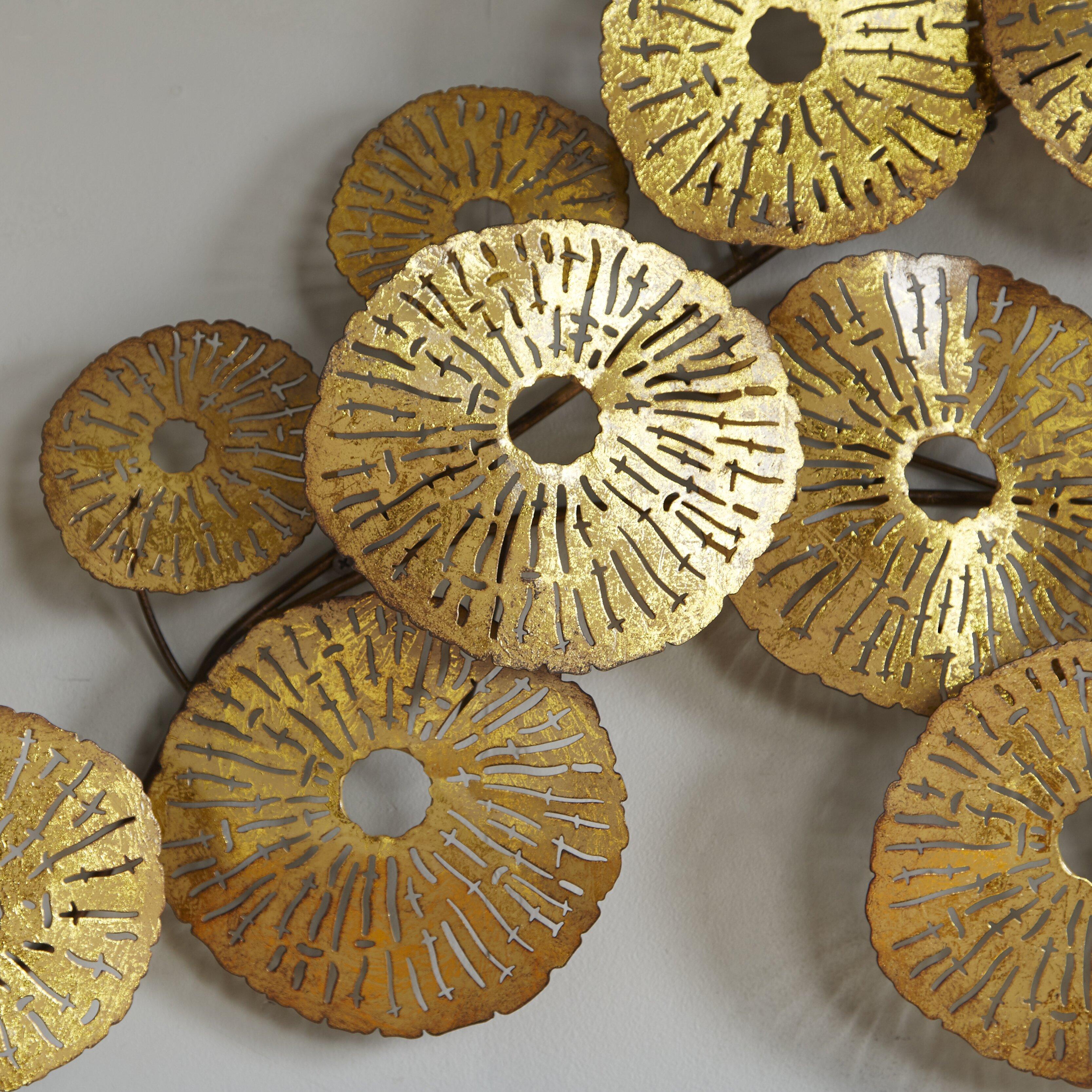 Gold Circles Wall Decor : Moe s home collection circles wall d?cor reviews wayfair