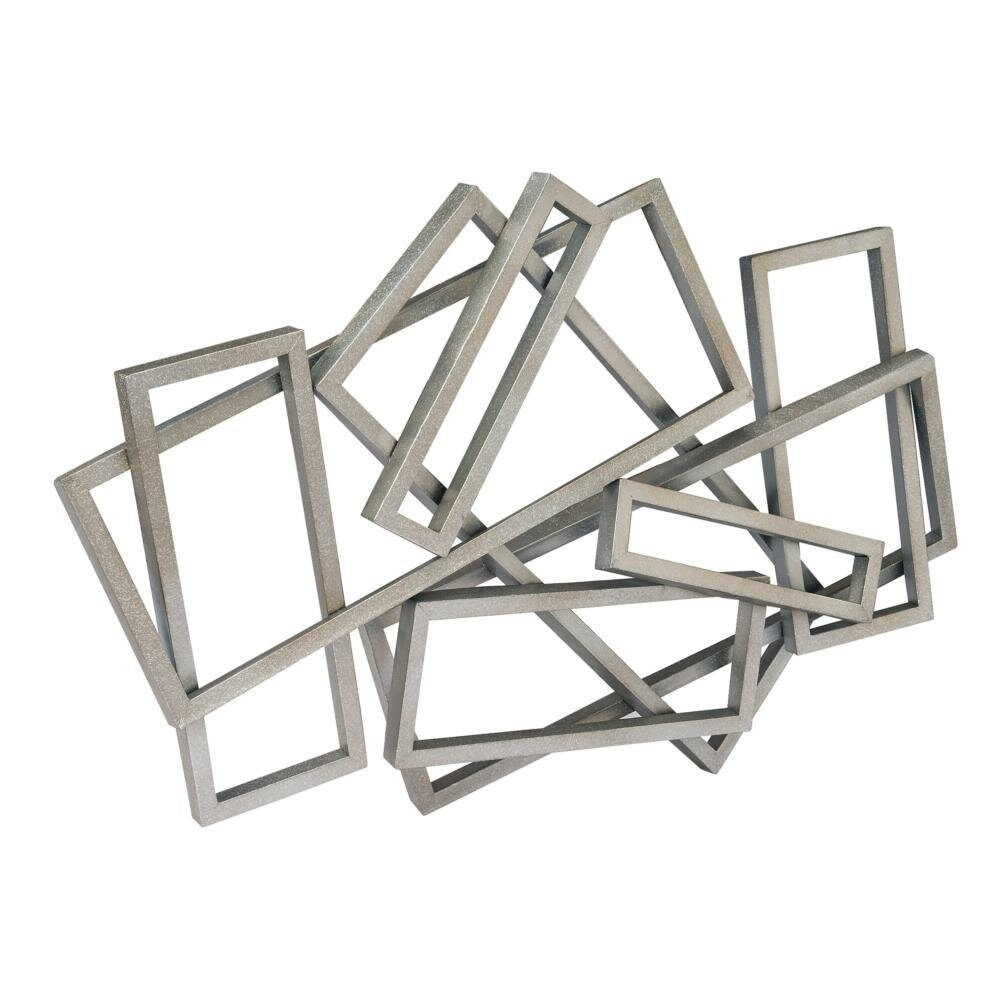 Moe 39 s home collection metal rectangles wall d cor for Decoration murale acier