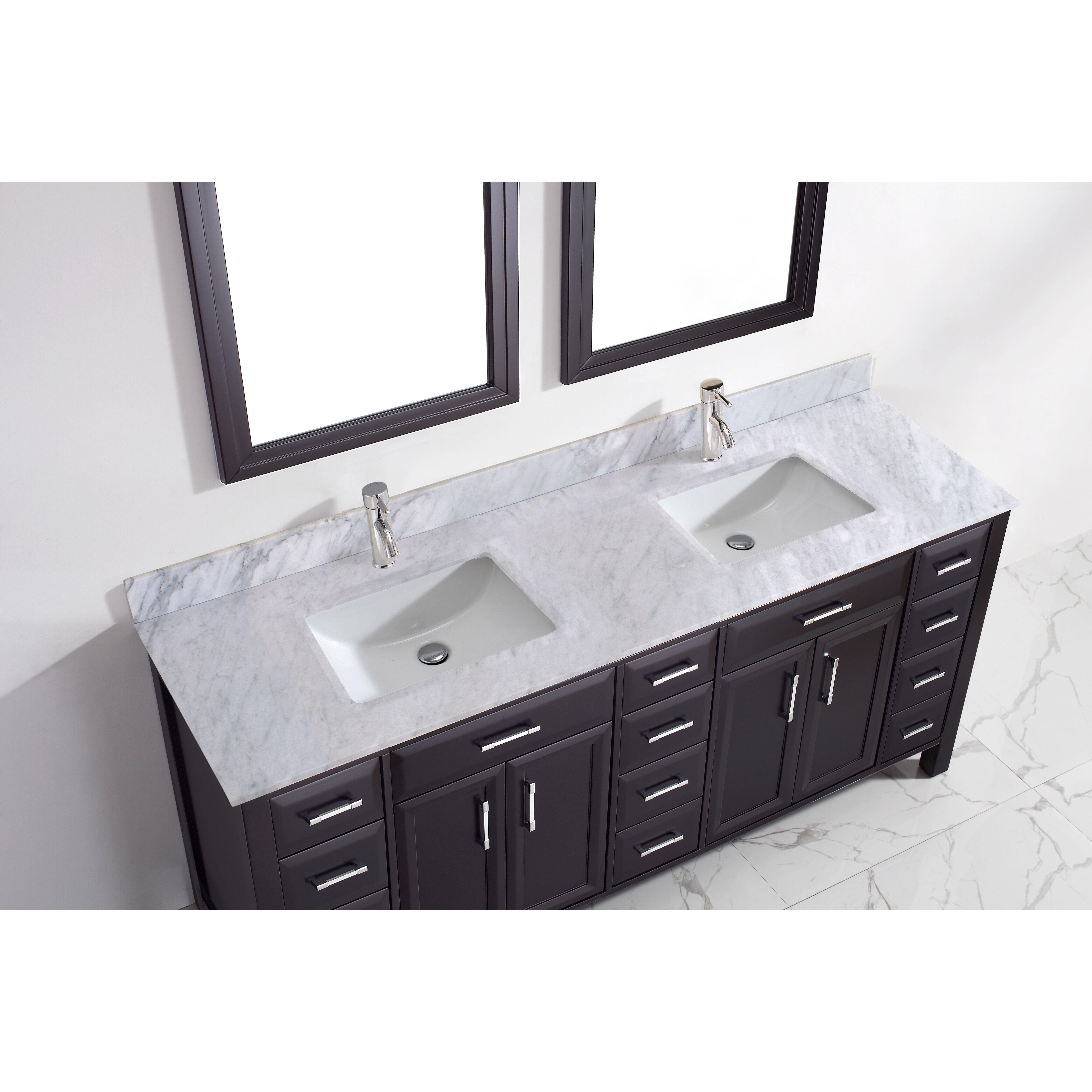 Bauhaus Bath Caledonia 75 Double Bathroom Vanity Set Reviews Wayfair Supply