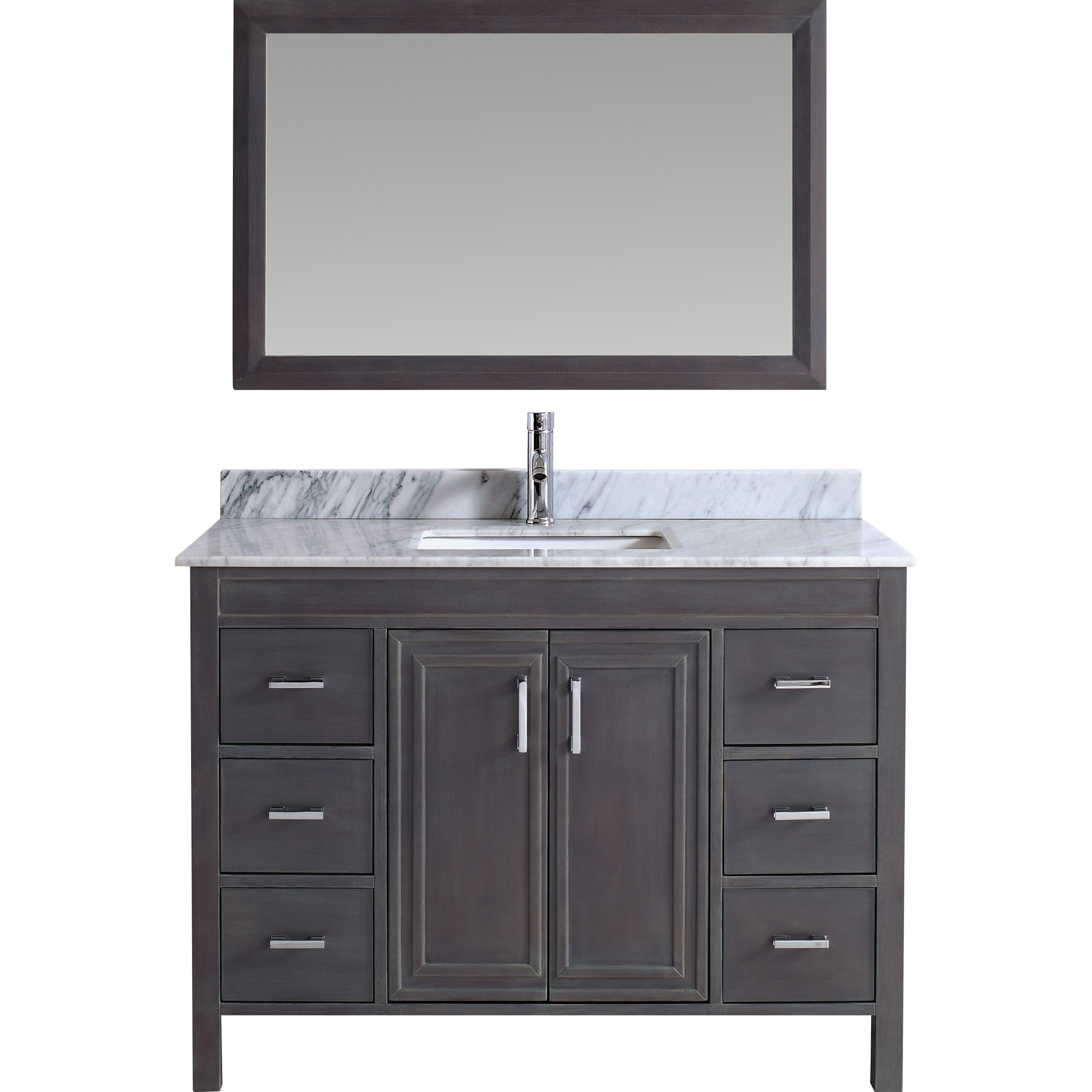 Bauhaus bath coraline 48 single bathroom vanity set with for Bath and vanity set