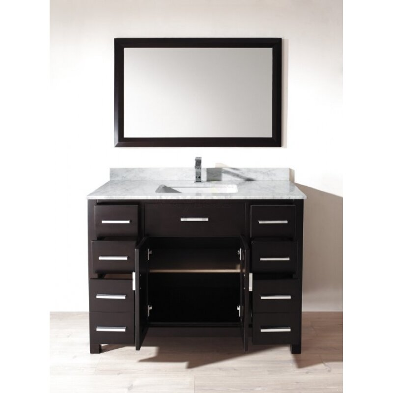 Bauhaus bath celize 48 single bathroom vanity set with for Bath and vanity set