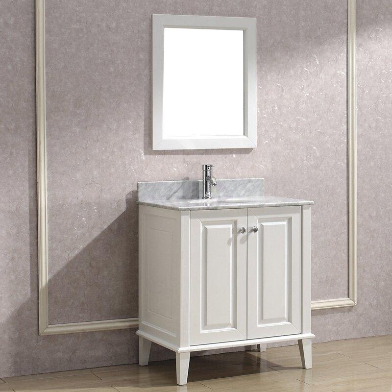 Bauhaus Bath Milly 30 Single Bathroom Vanity Set With Mirror Wayfair