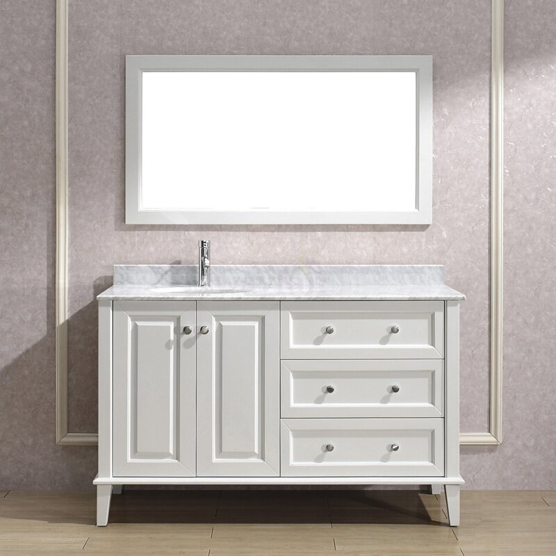 Bauhaus Bath Milly 55 Single Bathroom Vanity Set With Mirror Reviews Wayfair