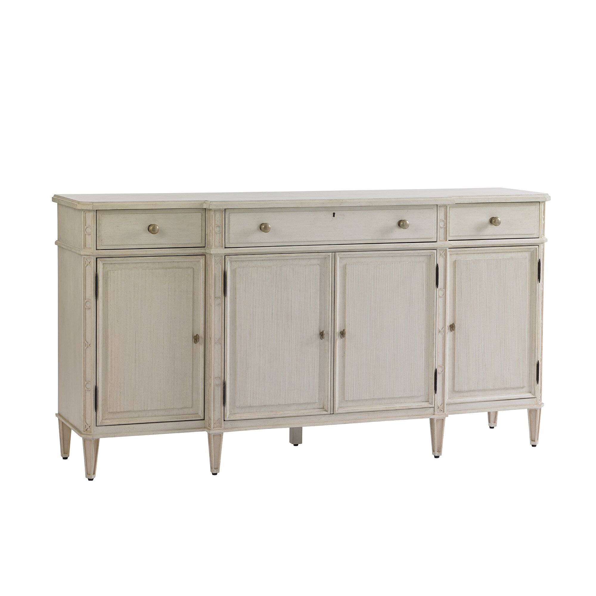 Stanley preserve brighton buffet with 4 doors reviews for Stanley furniture
