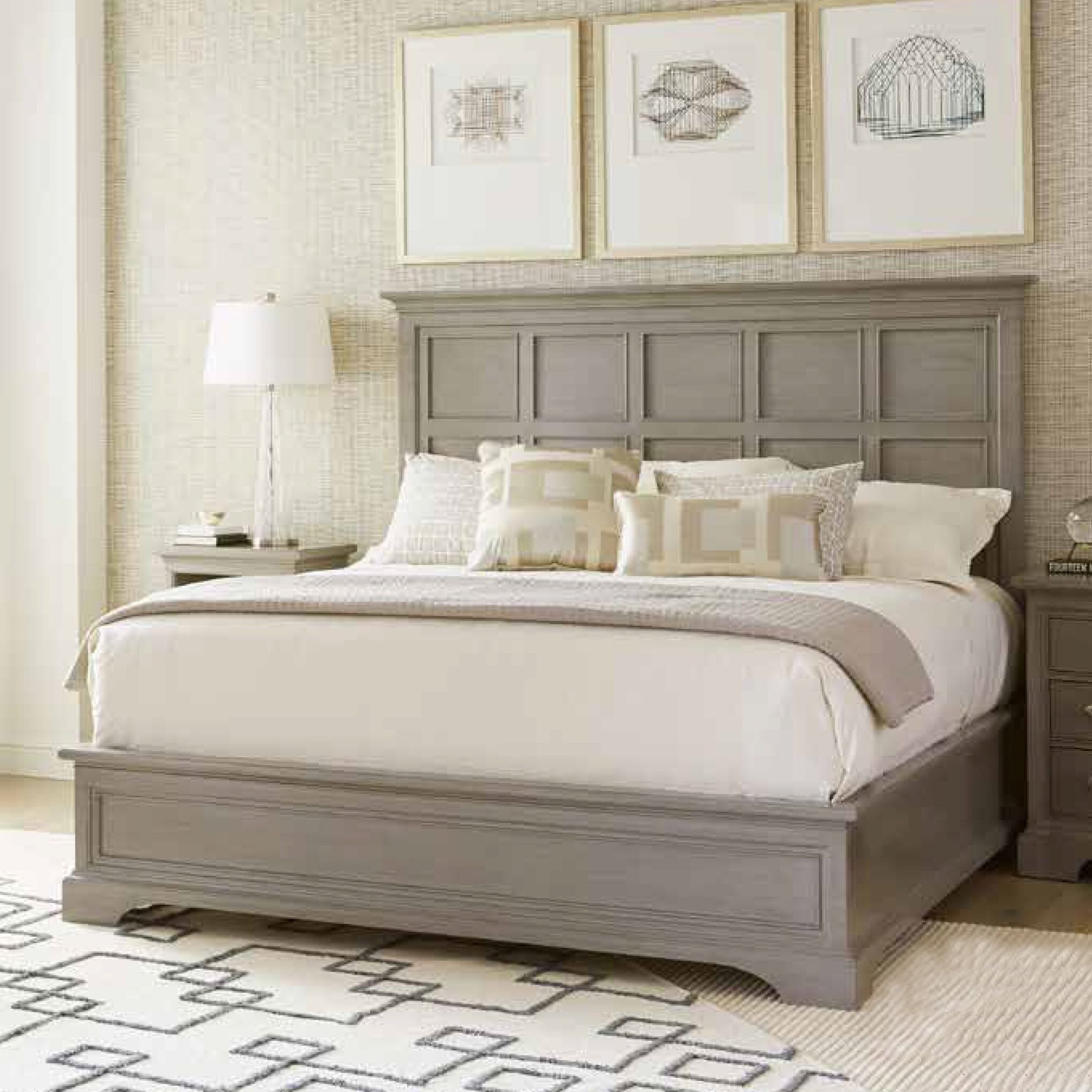 Stanley transitional panel bed reviews wayfair for Transitional bedroom furniture