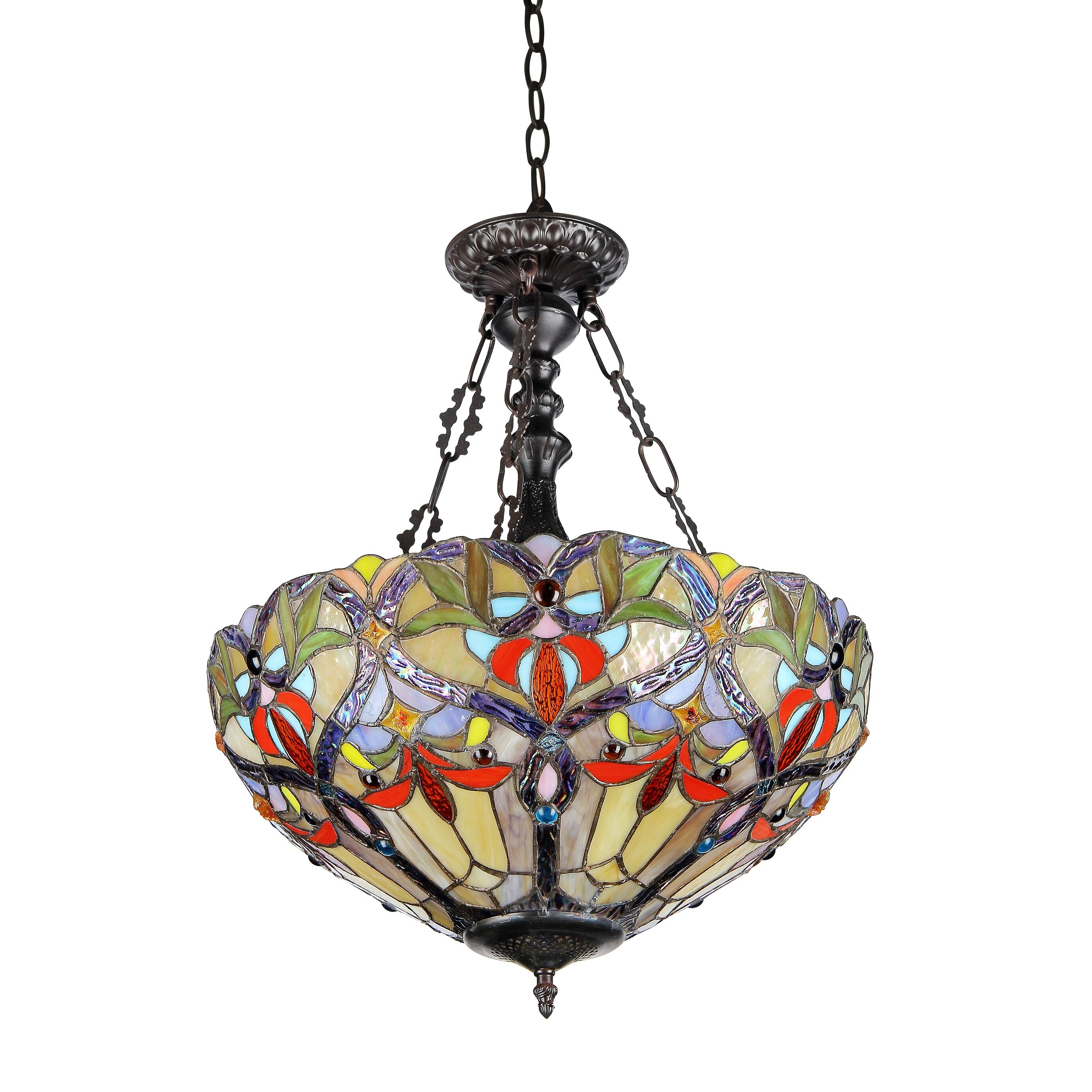 Chloe Lighting Victorian 2 Light Byron Inverted Ceiling