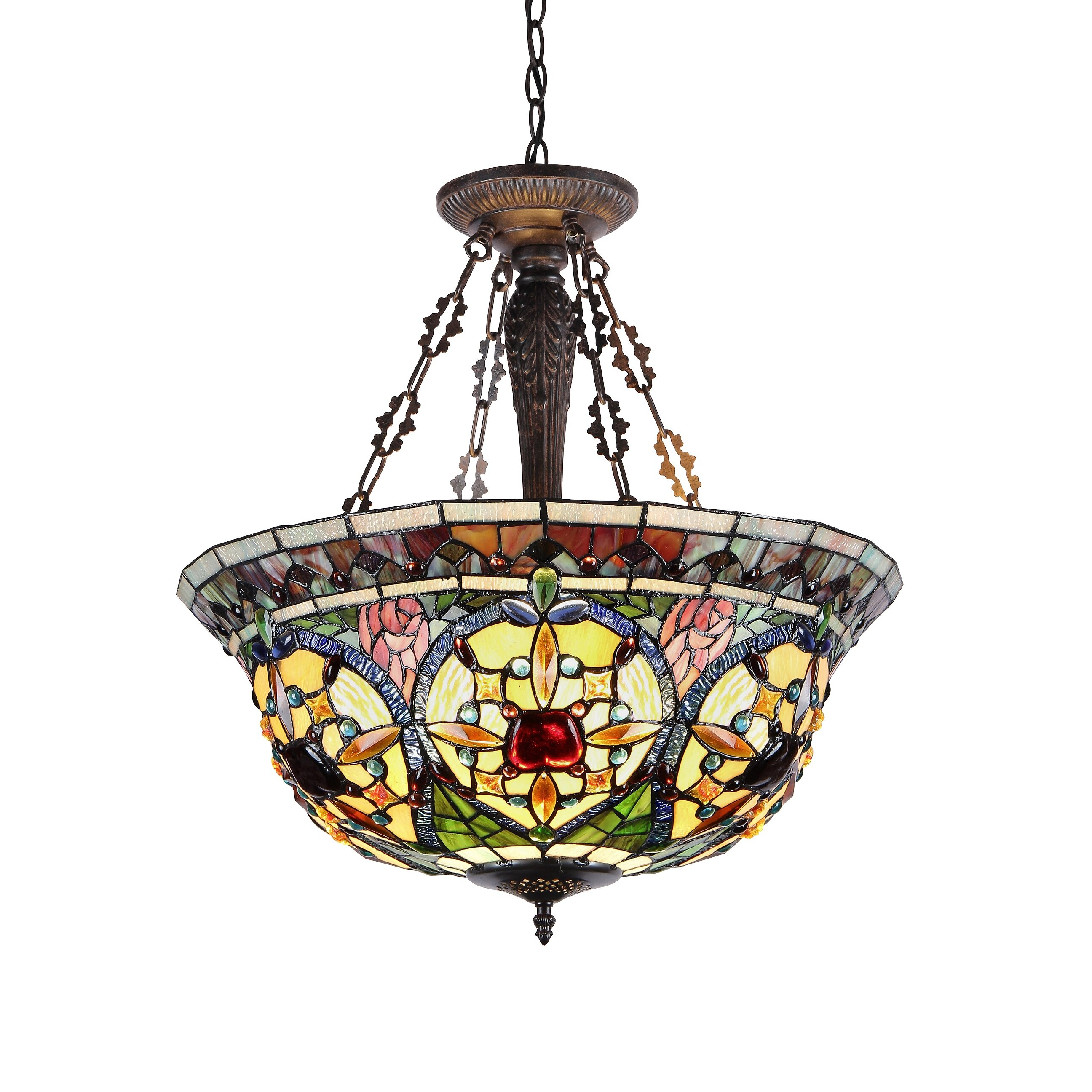 Chloe Lighting Victorian 3 Light Harlan Inverted Ceiling
