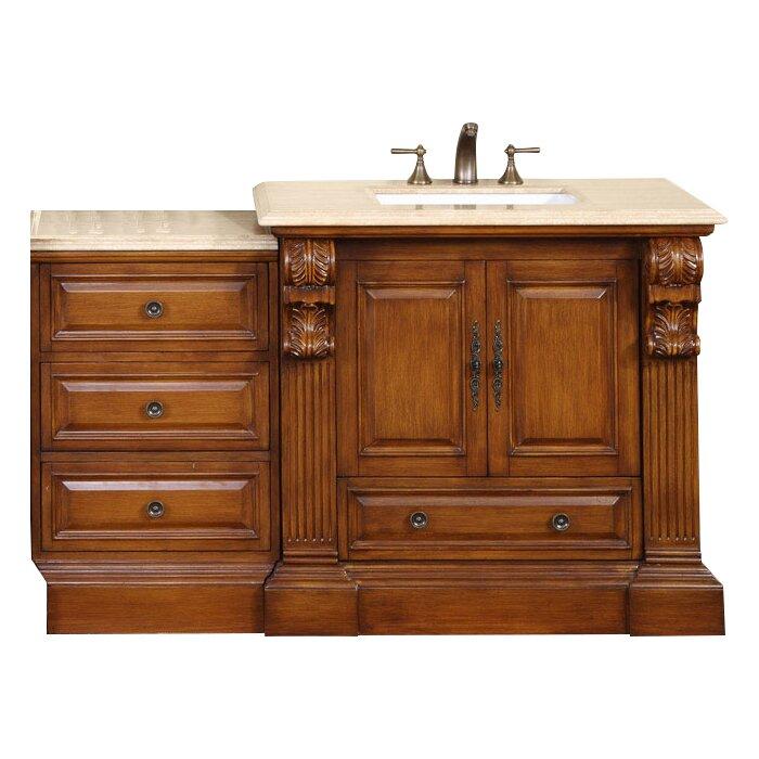 Silkroad Exclusive Montgomery 58 Single Bathroom Vanity Set Reviews Wayfair