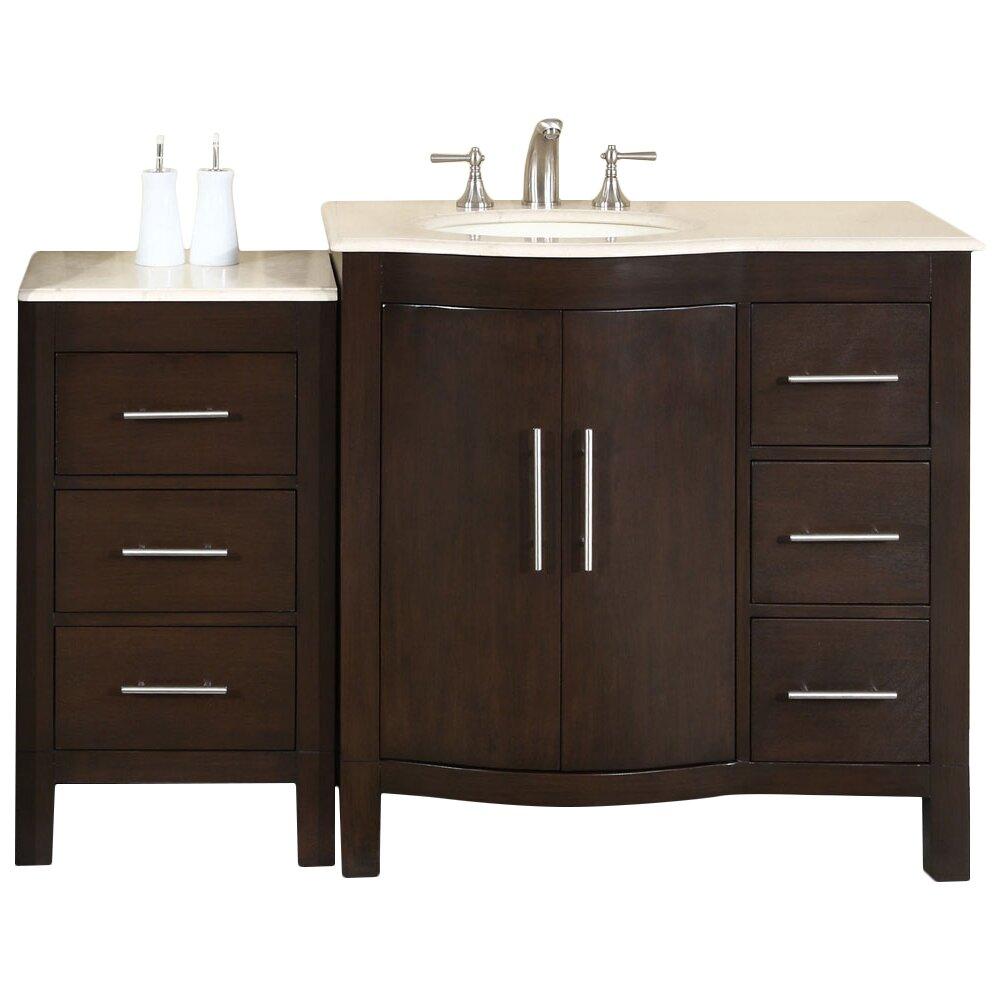 silkroad exclusive 54 quot single bathroom vanity set