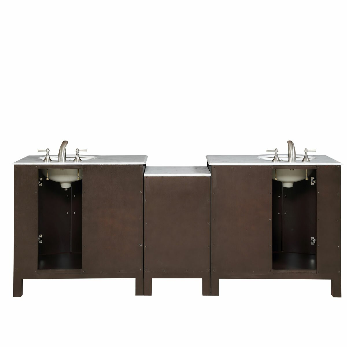 Silkroad Exclusive 89 Double Lavatory Sink Cabinet