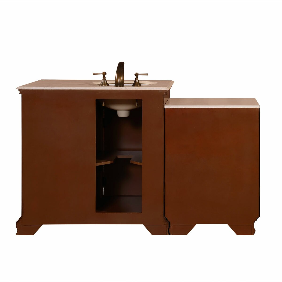 Silkroad exclusive 59 single sink cabinet bathroom vanity for Toilet sink cabinet