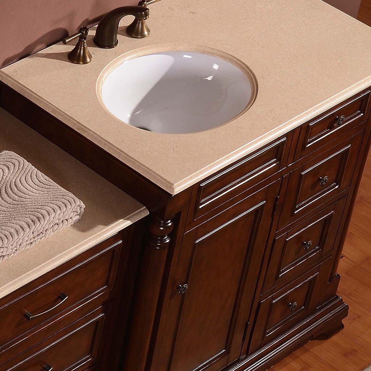Silkroad exclusive 59 single sink cabinet bathroom vanity set reviews wayfair for Silkroad bathroom vanity reviews