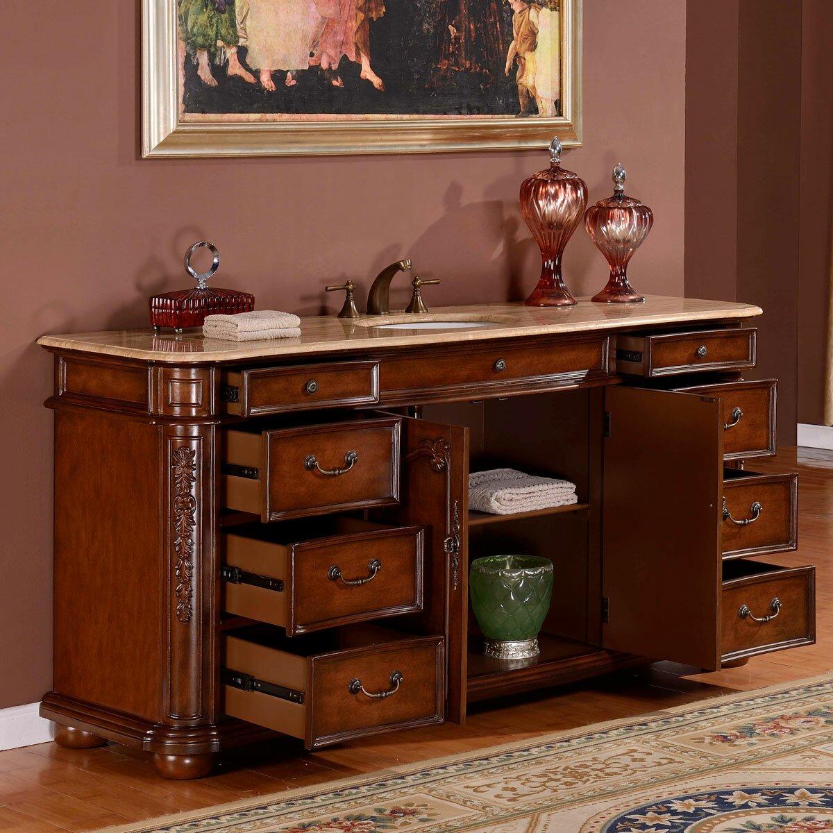 Silkroad Exclusive 72 Single Sink Cabinet Bathroom Vanity Set Reviews