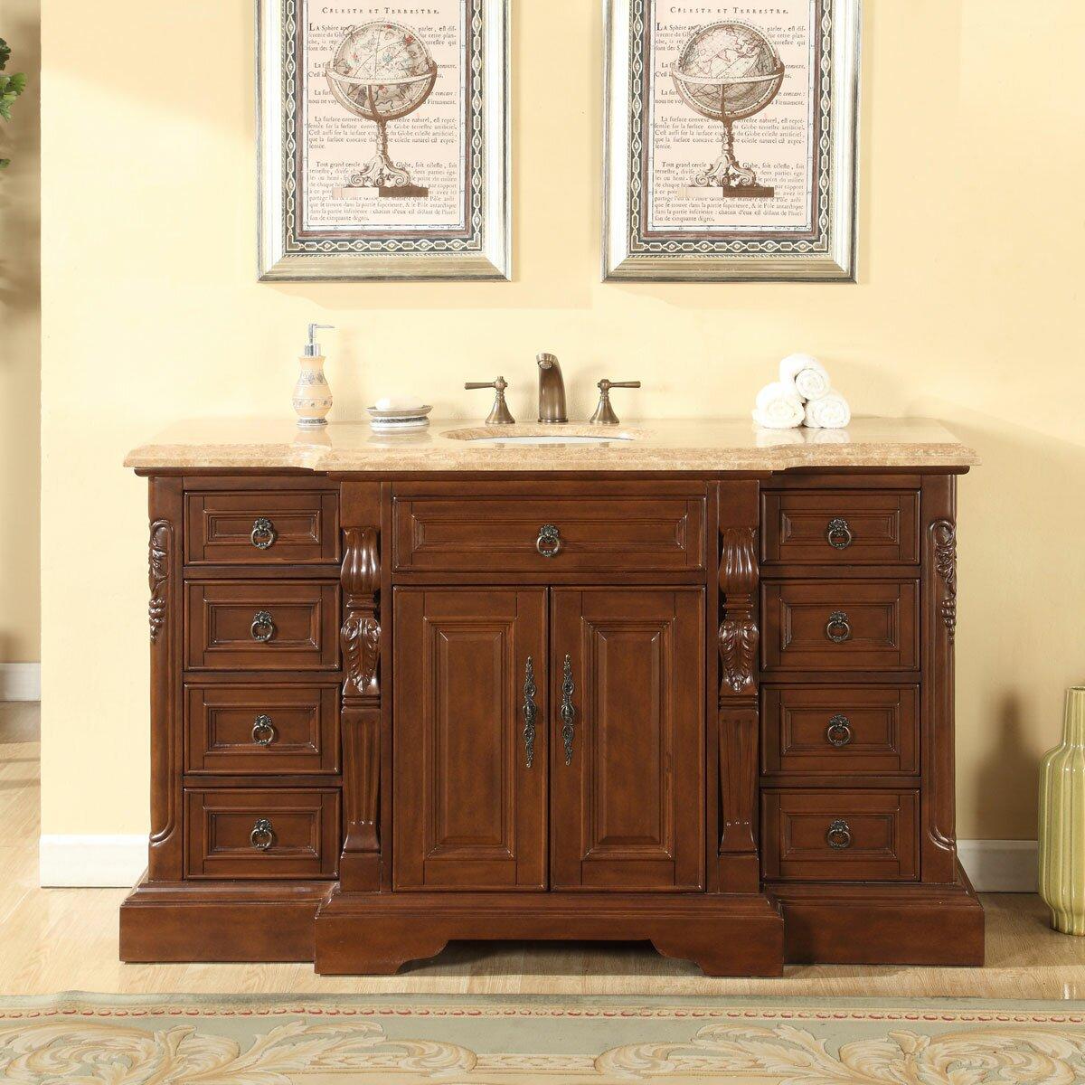 Silkroad Exclusive 60 Quot Single Sink Bathroom Vanity Set
