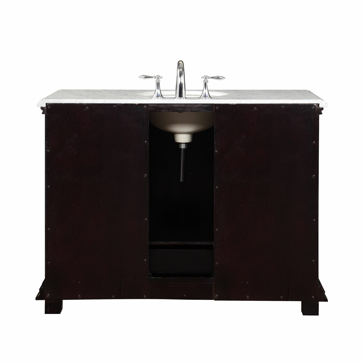 Silkroad Exclusive 48 Single Sink Bathroom White Marble