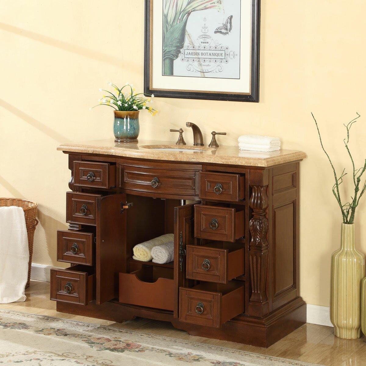 Silkroad Exclusive 48 Single Sink Bathroom Vanity Set Reviews Wayfair