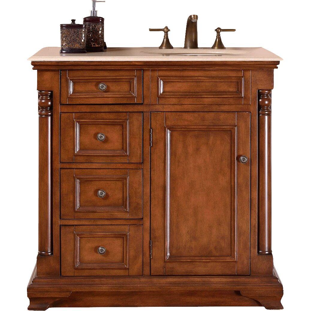 Silkroad Exclusive 36 Single Sink Cabinet Bathroom Vanity Set Reviews