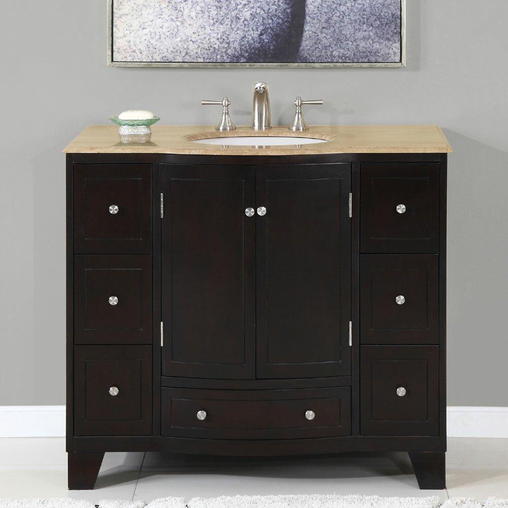 silkroad exclusive merrimack 40 quot single bathroom vanity