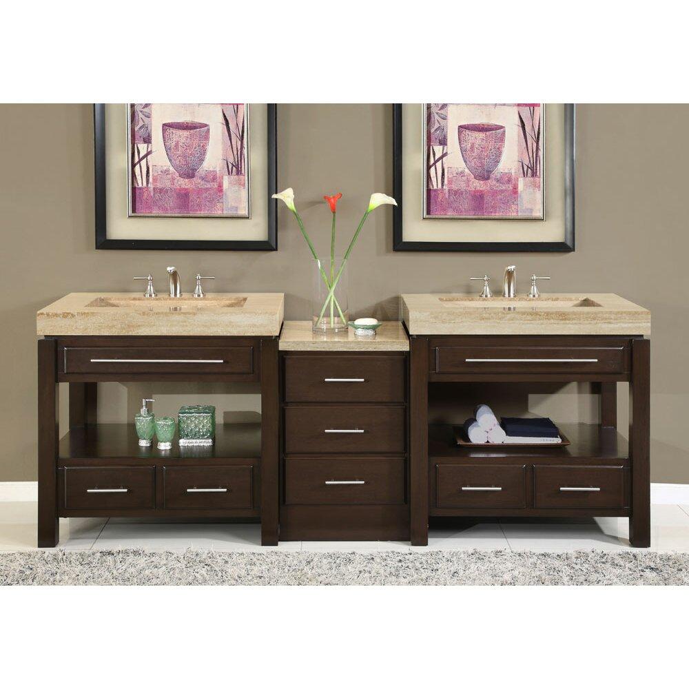 Silkroad Exclusive Chester 92 Double Bathroom Vanity Set