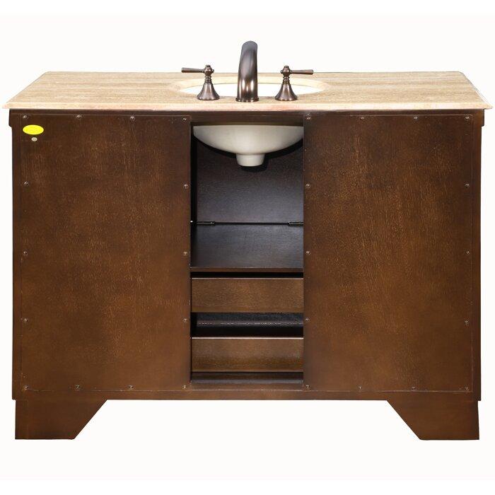 silkroad exclusive albany 48 quot single bathroom vanity set