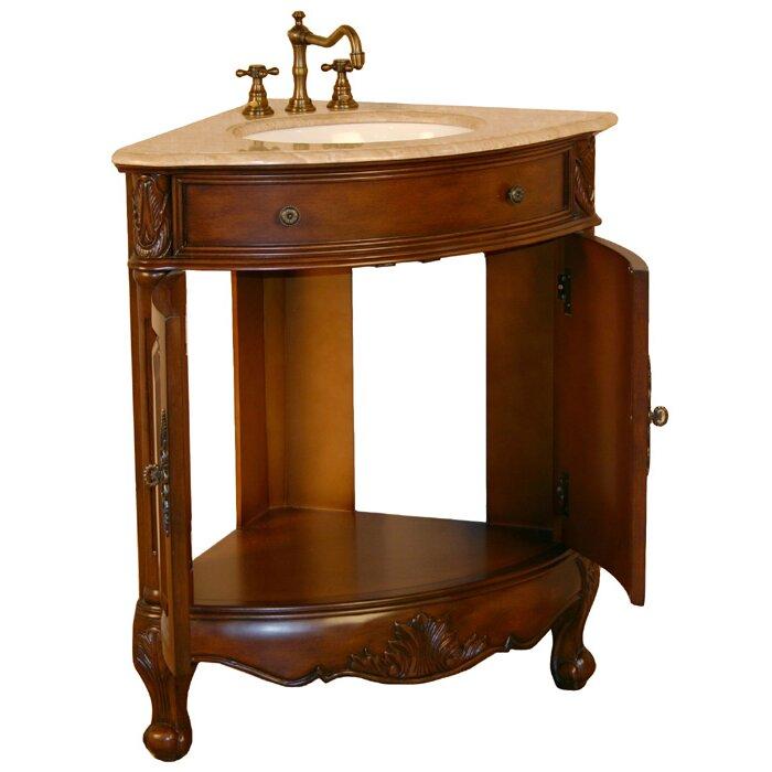 Silkroad Exclusive Hannah 32 Single Sink Cabinet Bathroom Vanity Set Reviews Wayfair