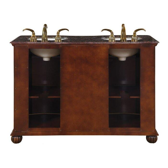 "Silkroad Exclusive Adela 52"" Double Bathroom Vanity Set ..."