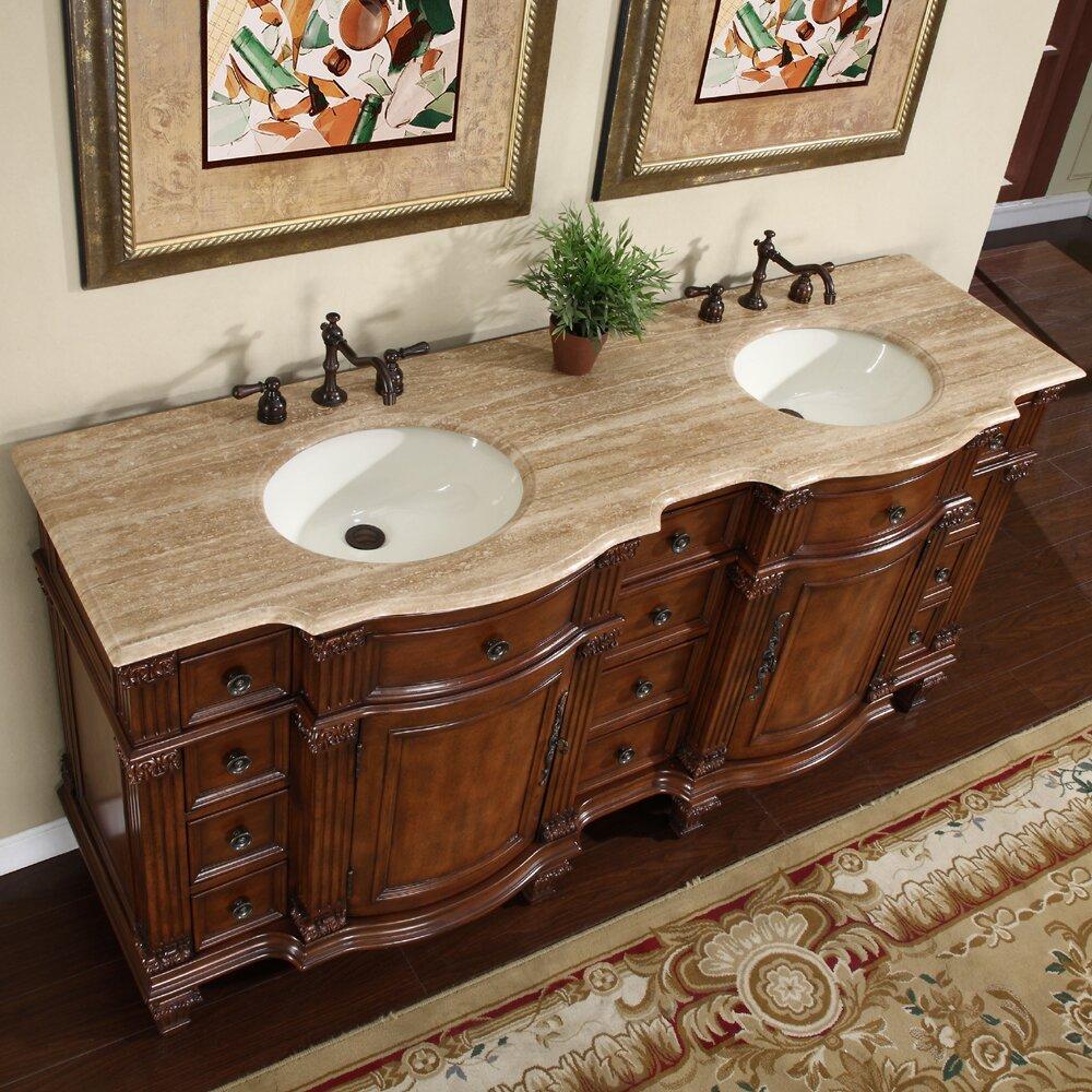 Silkroad Exclusive Blair 72 Double Bathroom Vanity Set Reviews Wayfair
