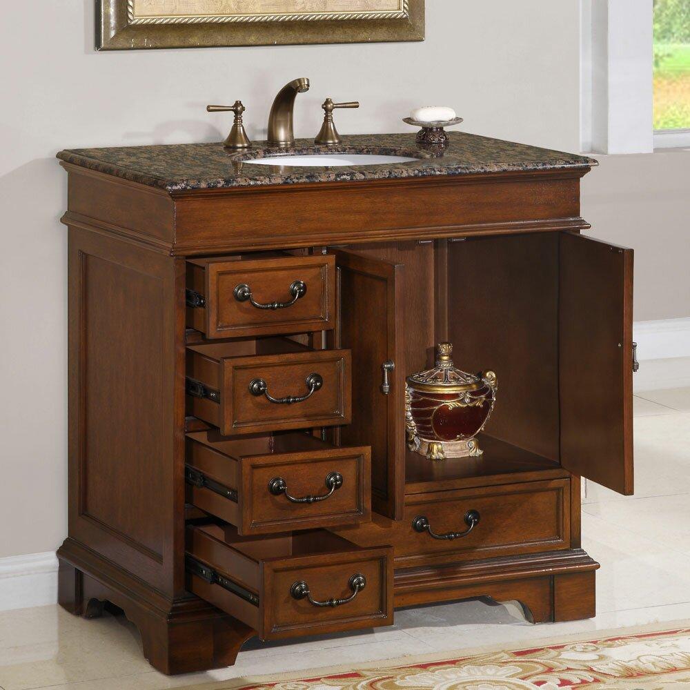 Silkroad exclusive ashley 36 single bathroom vanity set Silkroad exclusive bathroom vanities
