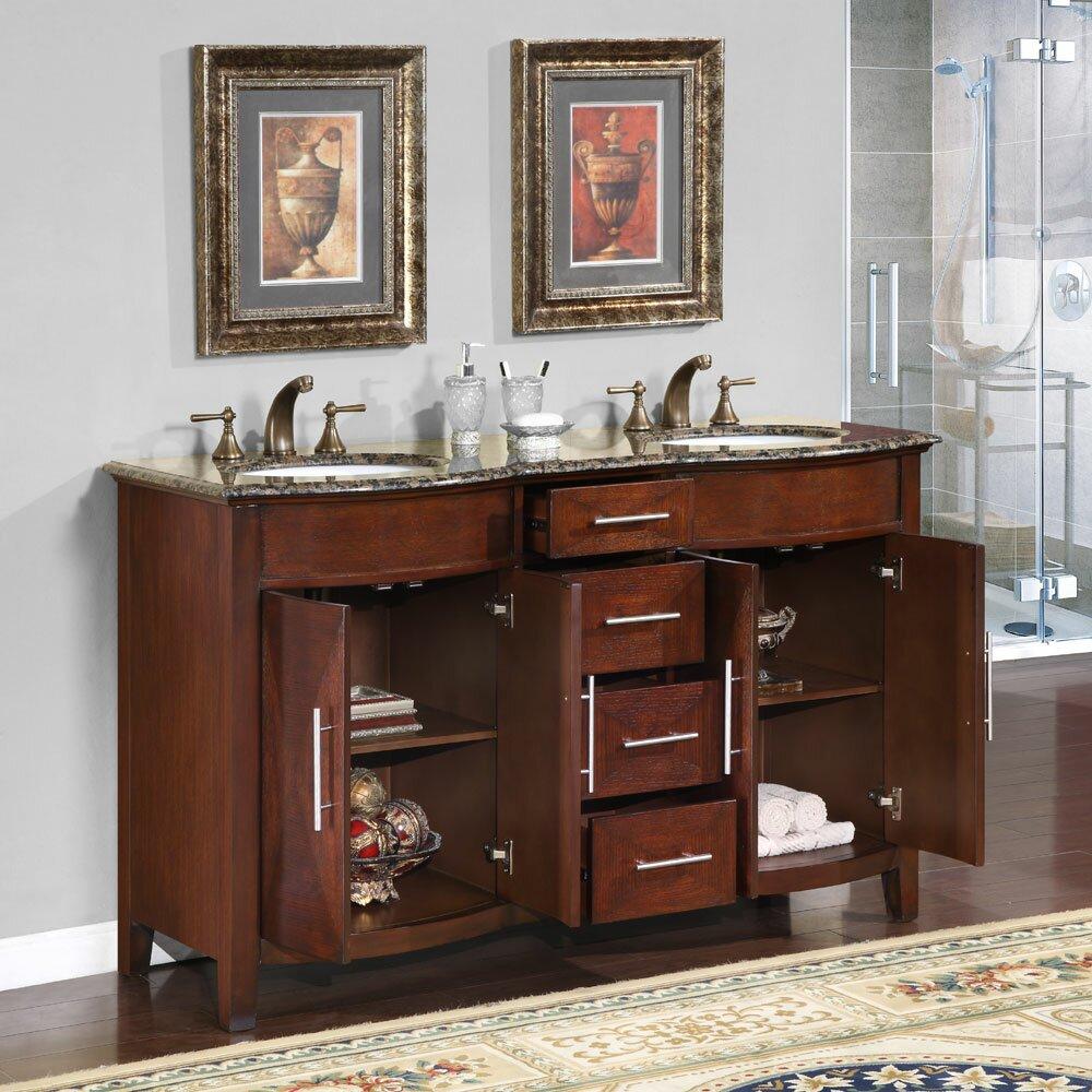 "Silkroad Exclusive Cambridge 58"" Double Bathroom Vanity"
