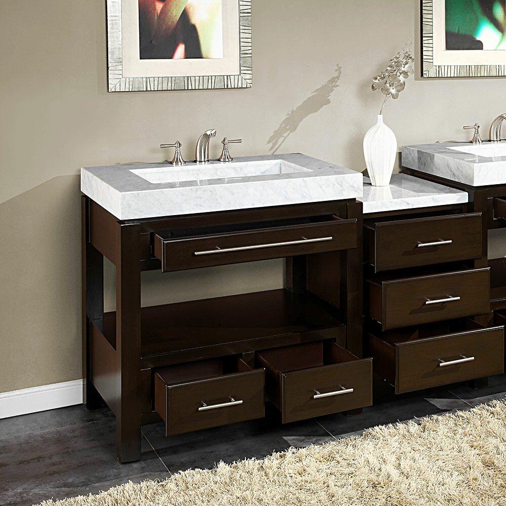silkroad exclusive stanton 56 quot single bathroom vanity set