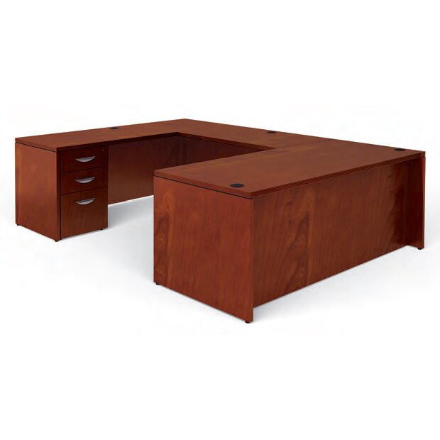 offices to go ventnor rectangular u shaped executive desk reviews wayfair. Black Bedroom Furniture Sets. Home Design Ideas