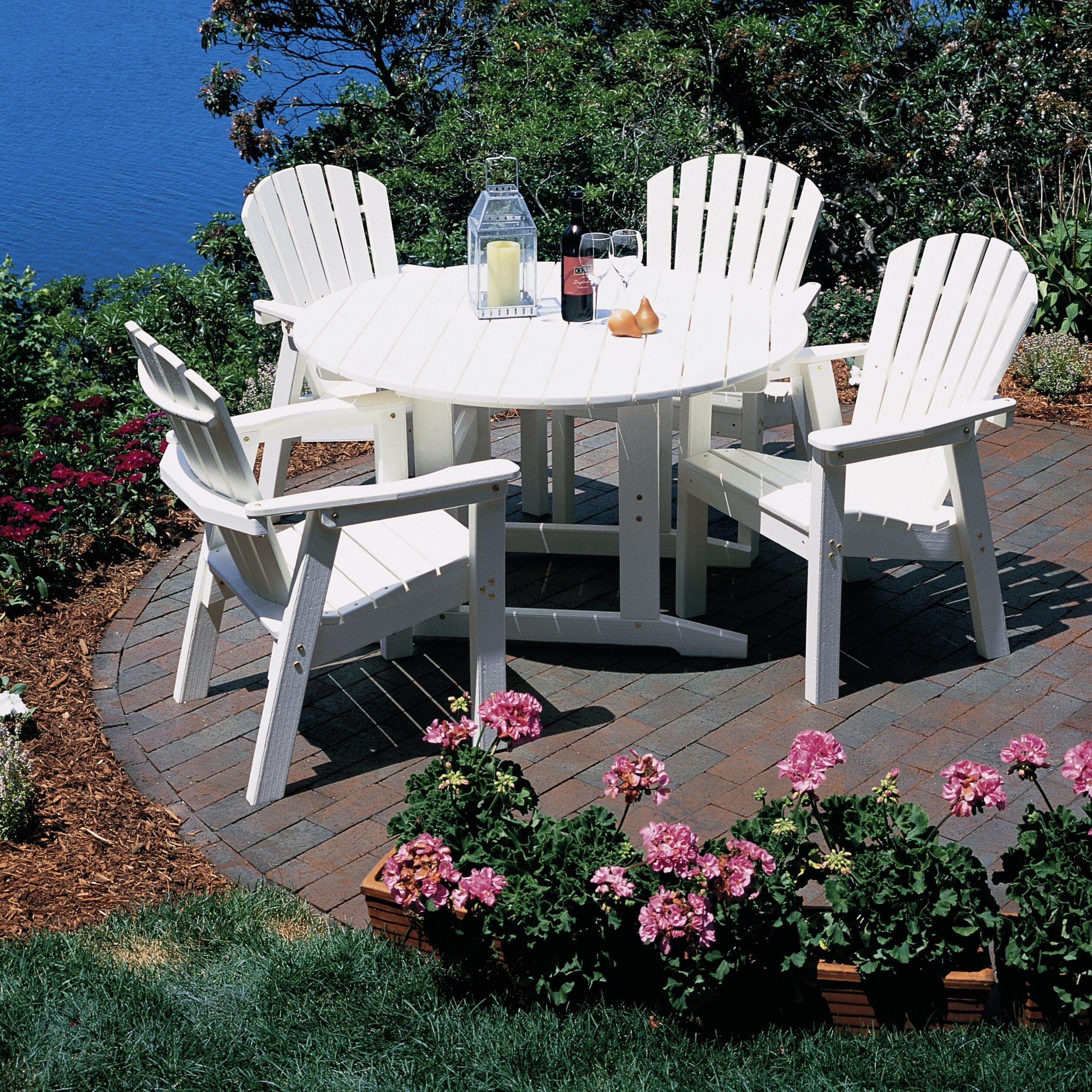Seaside Casual Adirondack Shell Back Deck Chair