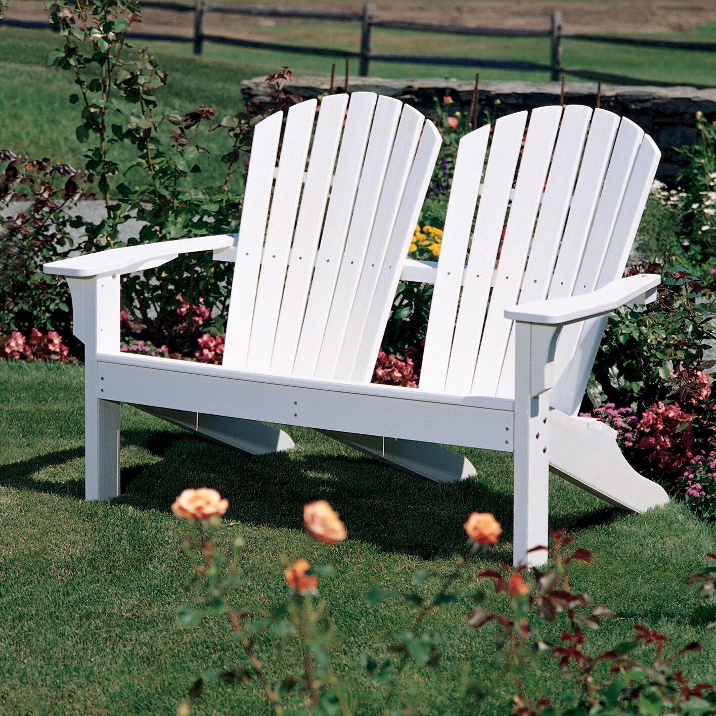 Seaside Casual Adirondack Shell Back Garden Bench